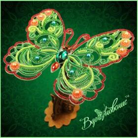 Набор для вышивки бисером Ажурная бабочка 3D 085