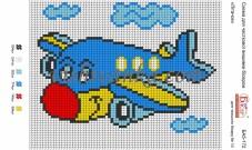 Рисунок на габардине для вышивки бисером Літачок
