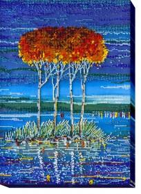 Набор для вышивки бисером Огненная лазурь 2, , 556.00грн., АВ-486, Абрис Арт, Картины из нескольких частей