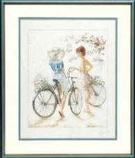 Набор для вышивки крестом LanArte Girls on Bicycle Девушки на велосипедах LanArte PN-0007949