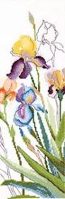 Набор для вышивания крестом Акварельные ирисы Cristal Art ВТ-246 - 218.00грн.