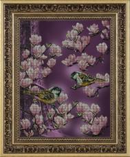 Набор для вышивки бисером Залит лучами розового цвета Краса и творчiсть 41013