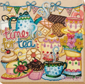 Набор для вышивки бисером на холсте Безумное чаепитие Абрис Арт АМВ-055 - 219.00грн.