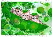 Схема вышивки бисером на атласе Коты-горошки