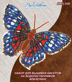 Набор для вышивки бисером Бабочка Красный Павлин