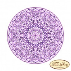 Схема вышивки бисером на габардине Мандала Сиреневый свет Tela Artis (Тэла Артис) МА-004(1) ТА