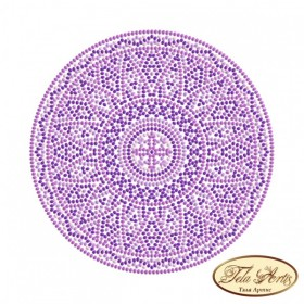 Схема вышивки бисером на габардине Мандала Сиреневый свет Tela Artis (Тэла Артис) МА-004(1) ТА - 50.00грн.