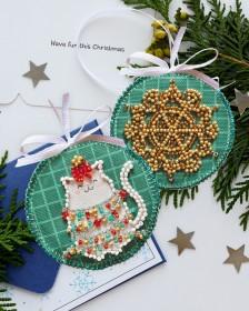 Набор для вышивки новогоднего украшения Теперь хорошо