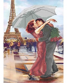 Схема для вышивки бисером Французский поцелуй