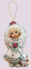 Набор для изготовления куклы из фетра для вышивки бисером Кукла. Невеста Баттерфляй (Butterfly) F059