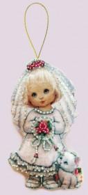 Набор для изготовления куклы из фетра для вышивки бисером Кукла. Невеста