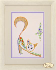 Набор для вышивки в смешанной технике Цветочный кот - 2 Tela Artis (Тэла Артис) НШ-002 - 190.00грн.