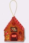 Набор для изготовления куклы из фетра для вышивки бисером Домик