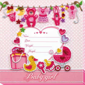 Набор для вышивки бисером на холсте Метрика для девочки Абрис Арт АВ-603 - 213.00грн.