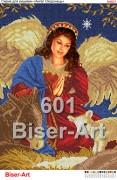 Схема вышивки бисером на габардине Ангел-охоронець