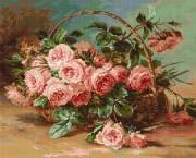Набор для вышивки крестом Корзина с розами