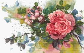 Набор для вышивки крестом Красные розы