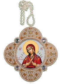 Набор для изготовления подвески Богородица Семистрельная
