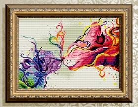 Алмазная мозаика Палитра чувств. Котики