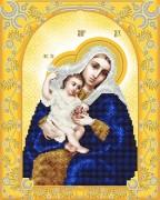 Схема для вышивки бисером на атласе Божья Матерь Покрывающая