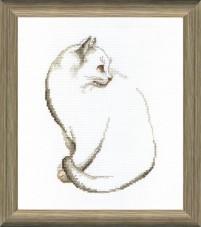Набор для вышивки крестом Серый котик Cristal Art ВТ-095