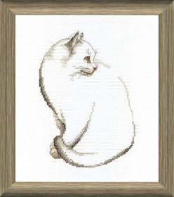 Набор для вышивки крестом Серый котик