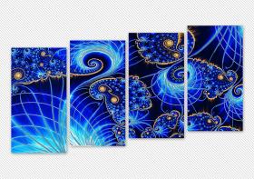 Схема для вышивки бисером на атласе Симфония галактик (Полиптих), , 433.00грн., АР2-006, А-строчка, Картины из нескольких частей