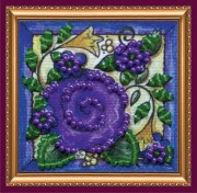 Набор - магнит для вышивки бисером Цветочный ковер