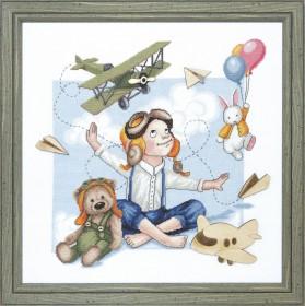 Набор для вышивки крестом Юный летчик