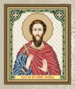 Схема для вышивки бисером на габардине Святой мученик Леонид
