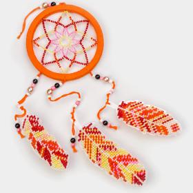 Набор для вышивания бисером на пластиковой основе Ловец снов  Волшебная страна FLPL-028 - 270.00грн.