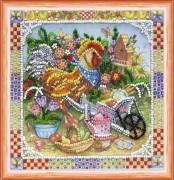 Набор для вышивки бисером Петушок - садовник
