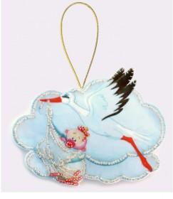 Набор для изготовления игрушки из фетра для вышивки бисером Аист  девочкой Баттерфляй (Butterfly) F037 - 57.00грн.