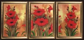 Набор вышивки бисером Маковый триптих, , 594.00грн., 299Б, Баттерфляй (Butterfly), Картины из нескольких частей