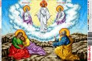 Схема вышивки бисером на габардине Преображення Господнє