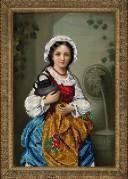 Набор для вышивки ювелирным бисером Девушка с кувшином