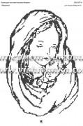 Схема для вышивки бисером на атласе Мадонна