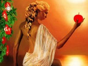 Схема для вышивки бисером на атласе Богиня любви