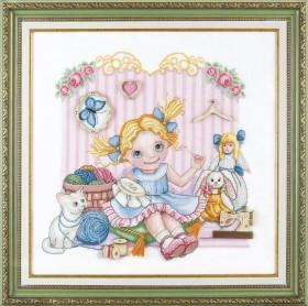 Набор для вышивки крестом Юная рукодельница Чарiвна мить (Чаривна мить) М-274 - 355.00грн.