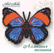 Набор-магнит для выкладки алмазной мозаикой Дикий нарцисс (Agrias narcissus)