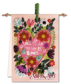 Набор-флажок для вышивки бисером на холсте Цветущее сердце Абрис Арт АТ-010 - 87.00грн.