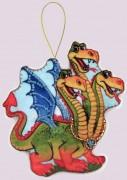 Набор для изготовления игрушки из фетра для вышивки бисером Змей Горыныч