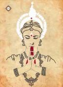 Схема для вышивки бисером на атласе Namaste