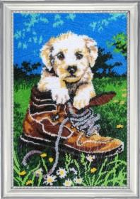 Набор для вышивки бисером Шаловливый щенок Баттерфляй (Butterfly) 611Б - 531.00грн.
