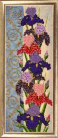 Набор для вышивки бисером Панно с ирисами