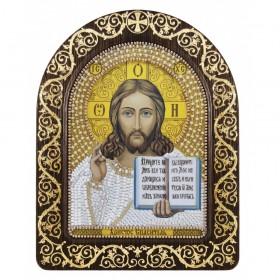 Набор для вышивки икон в рамке-киоте Христос Спаситель, , 342.00грн., СН5001-У, Новая Слобода (Нова слобода), Маленькие иконы