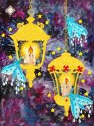 Схема для вышивки бисером на атласе Огоньки любви