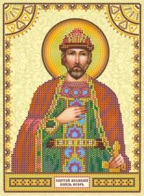 Схема для вышивки бисером на холсте Святой Игорь