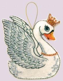 Набор для изготовления игрушки из фетра для вышивки бисером Лебедь, , 48.00грн., F101, Баттерфляй (Butterfly), Новый год