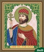 Рисунок на ткани для вышивки бисером Св. Ярослав